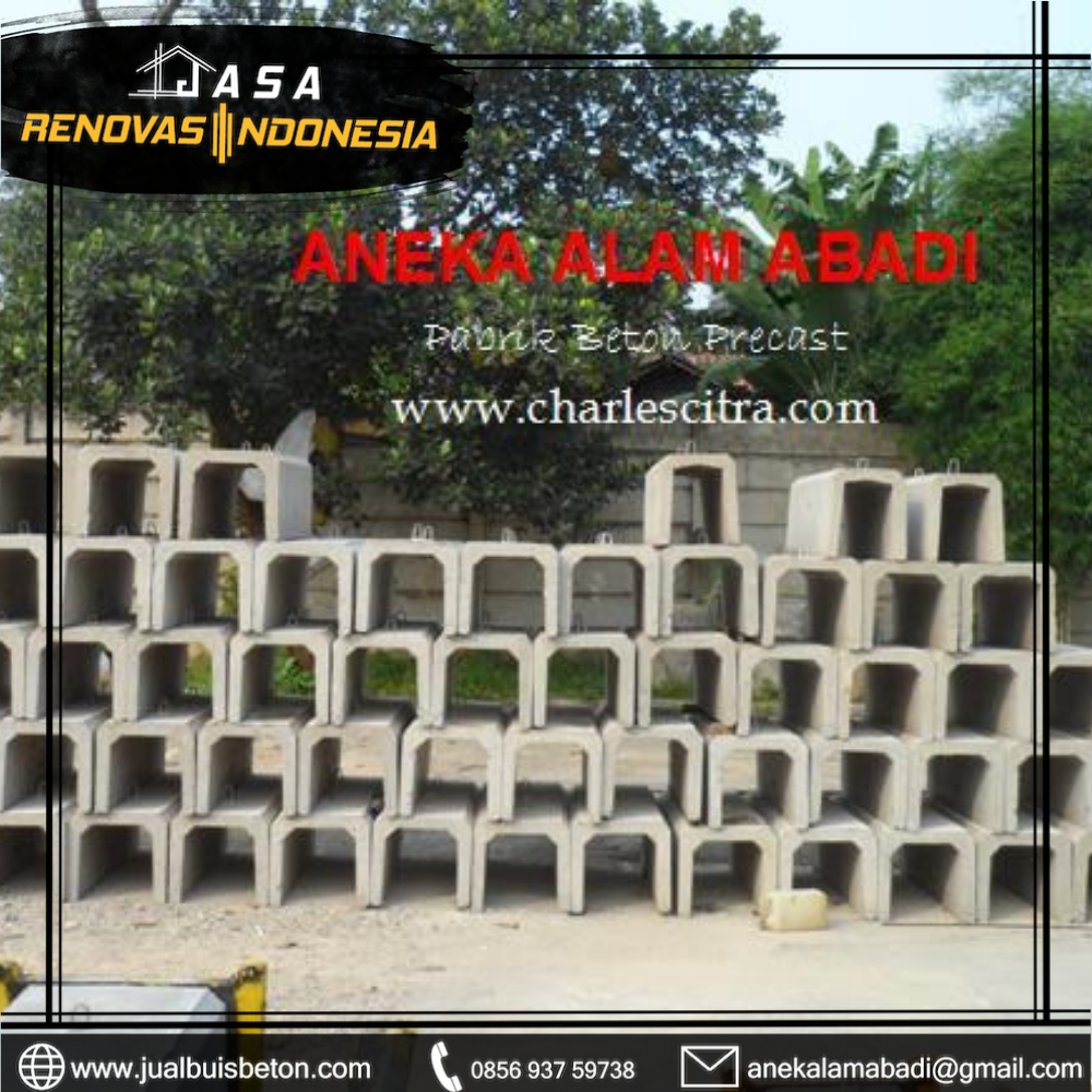 saluran u beton
